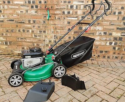 qualcast self propelled petrol lawn mower with Briggs and Stratton engine mulch