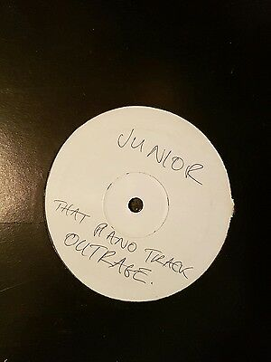 """Outrage: That Piano Track - 12"""" WHITE LABEL Vinyl.."""
