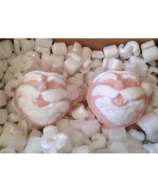 LUSH 2x Father Christmas Bath Bombs Snow Fairy Scented Lush Cosmetics Christmas!