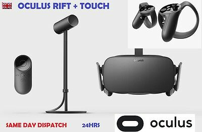 BRAND NEW Oculus Rift Consumer Edition CV1 + Touch Controllers Bundle