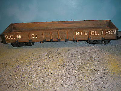 G Scale R.e.m. Co Steel Iron Wagon Very Detailed