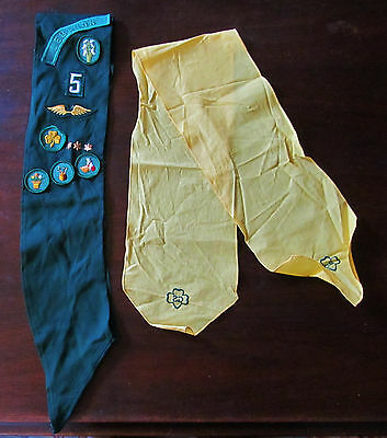Girl Scout sash patches badges pins Cook Dabbler Interior Design 2nd class 1962