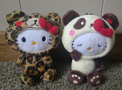 Urban Outfitters Hello Kitty Leopard and Panda Plush Lot of 2