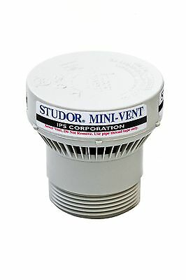 Studor 20341 Mini-Vent with PVC Adapter 1 1/2-Inch or 2-Inch Connection