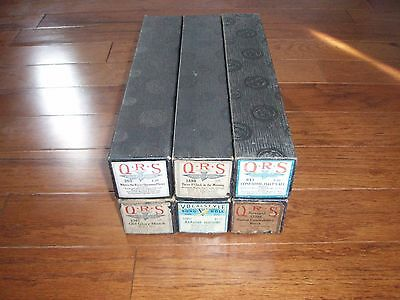 6 Vintage QRS & Vocalstyle Player Piano Music Rolls