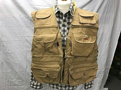 Vintage Fly Fishing Vest Waistcoat Englands Doctor Large  Crewsaver Compatible