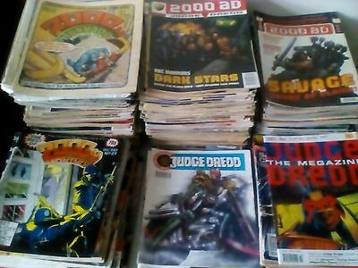 2000 AD, JUDGE DREDD + RELATED ITEMS x 390 ISSUES LOT