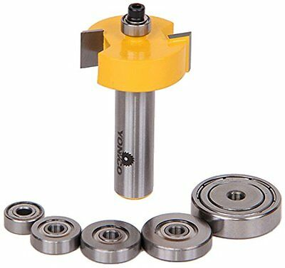 Yonico Rabbet Router Bit with 6 Bearings Set-1/2-Inch Shank