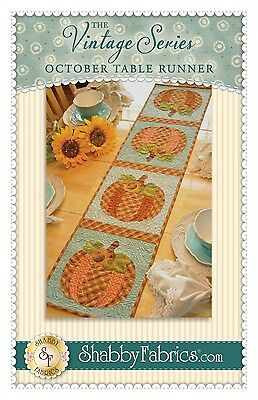 OCTOBER VINTAGE SERIES TABLE RUNNER QUILT PATTERN, from Shabby Fabrics, *NEW*