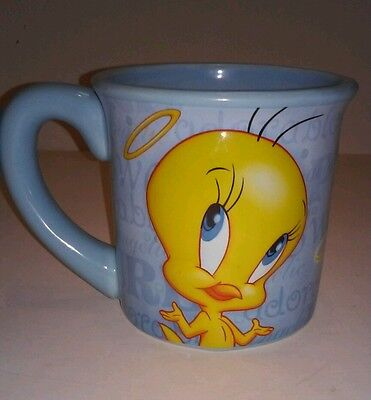 Tweety Bird Coffee Cup Mug 3D 99% Angel Houston Harvest Warner Brothers Blue