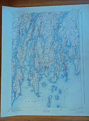 USGS Topographic Map Boothbay Maine 1893 (1930 Reprint)