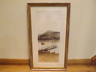 Limited edition pencil signed framed print Derwent Water Keswick