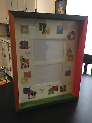 Walt Disney World Mickey Mouse Shadow Box Photo Picture Frame 4 Parks 1 World