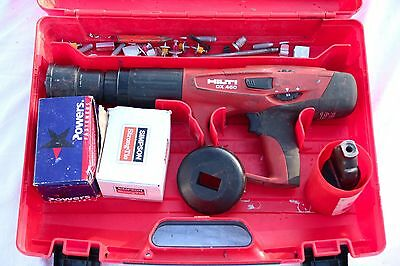 Hilti DX 460!!! Powder Actuated Tool Nail Gun w/Case & Extras - FREE SHIPPING!!!