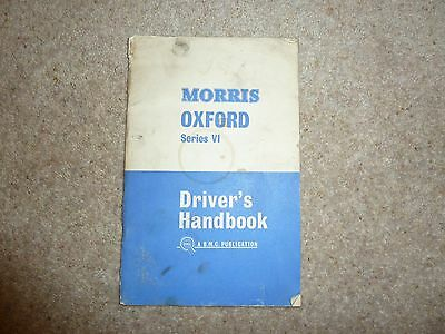 Morris Oxford Series VI Drivers handbook