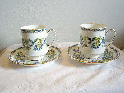 Vintage Paragon  2  X  Coffee  Cups  And Saucers  'Contessa'