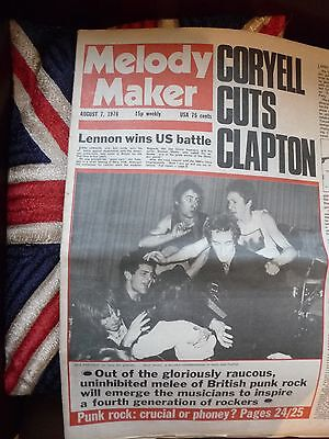 1976  MelodY maKer  NME sOundS  mUsic papER      sEDITIONAries SEX PIStols