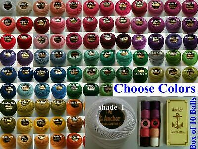 ANCHOR Pearl Cotton Crochet Embroidery Thread Balls Ball Choose from 220+Colours