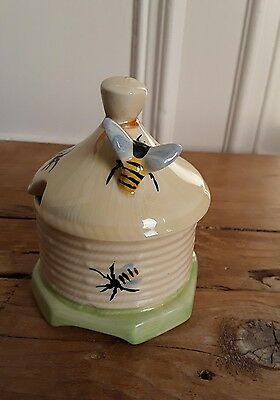 Lovely Crown Devon Honey Pot with Bees, Great Condition