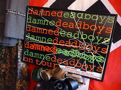 the DAMnED anD DEaD bOyS  GiG  1977 POSTErS sEDITIONAries SEX PIStols