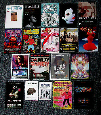 19 Music Gig Postcard Flyers David Bowie Jesus And Mary Chain Psychocandy Live