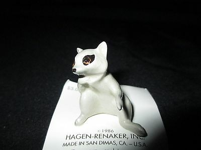 Retired Hagen Renaker Miniature Racoon Mama Made In The USA Mint On Card