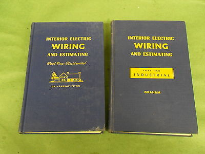 Interior Electric Wiring Residential Graham Hardcover 1956 12 Edition & 1955 1st