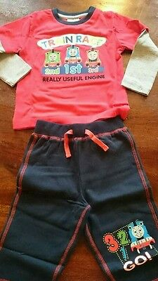 THOMAS THE TANK ENGINE TROUSERS AND TOP 6 - 9 Months