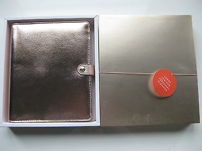 Kikki K Limited Edition Rose Gold Large Leather Personal Planner New In Box A5