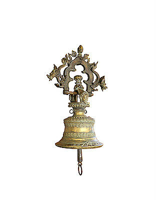 Bronze Temple Bell, Antique Asian, Dragons and Demons, Hanging Buddhist Bell