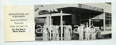 Vintage Print Ad 1953 Associated Veedol Victorville CA gas station Route 66