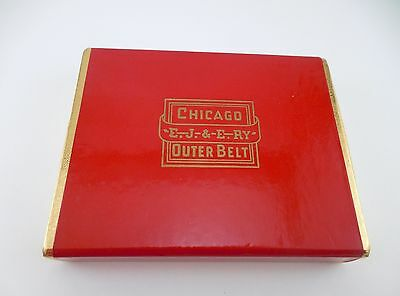 Vintage EJ&E Elgin Joliet Eastern Chicago Belt Playing Cards w/Tax Stamp Sealed