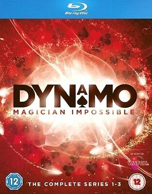 Dynamo Magician Impossible: Complete Series 1-3 (Blu-Ray, 2013, 3-Disc Set) NEW