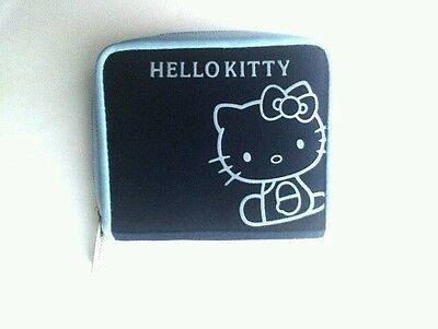 Kid's Hello Kitty Wallet Blue Multi Colors of Blues Zip Around closure