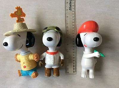 3 Snoopys From McDonald's In 2000