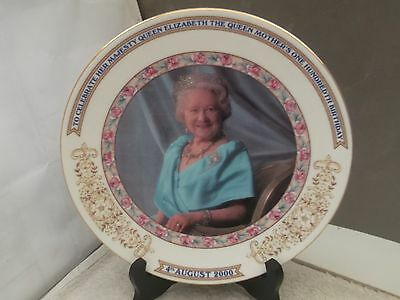 2000 PLATE TO COMMEMORATE THE 100th BIRTHDAY OF THE QUEEN MOTHER  BY AYNSLEY