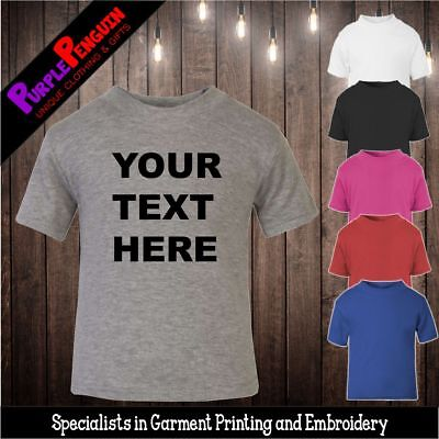 Baby Toddler TShirt - Personalised Text Kids Gift Boy Girl Shower Christening