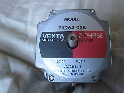 TWO (2) VEXTA 2-PHASE STEPPING MOTORS PK264-03B Oriental Motor