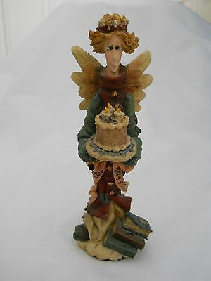 Boyds Bears Folkstone Collection Beatrice the Birthday Angel Figurine
