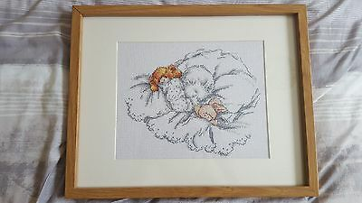 """Cross Stitch Handmade Picture """"little Tiny Baby"""""""