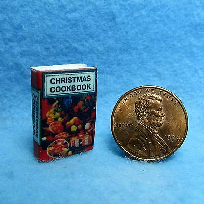 Dollhouse Miniature Christmas Cookbook with Pages ~ B2732