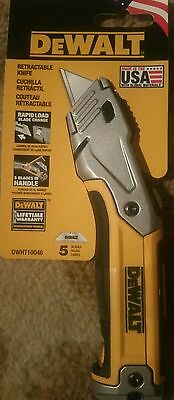 New in Pack DeWalt Retractable Utility Knife DWHT10046