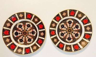 """Beautiful Set Royal Crown Derby Old Imari 1128 Pattern 8.5"""" Plate 1st Quality"""