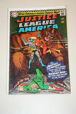 Justice League of America #45 Silver Age! 1st Shaggy Man! Writing on cover