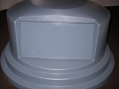Rubbermaid Brute Dome Top Trash Can Lid 2657-88 Fg265788 55 Gal Gray Spring Door