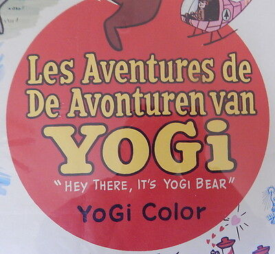 Hey There It's Yogi Bear Movie Poster 1964 in French Animated Hanna-Barbera