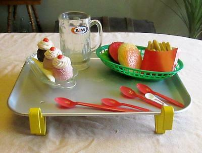 Vintage Drive in Food Tray Car Hop A&W root Beer Mug Baskets  Traco DQ