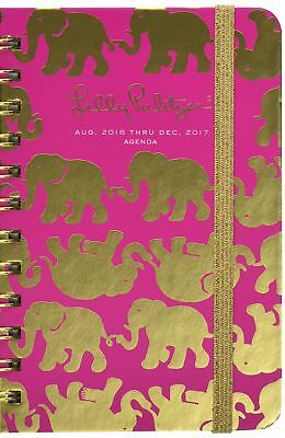 Lilly Pulitzer Pocket 17 Month 2016-2017 Agenda Tusk in Sun Pink (162326)