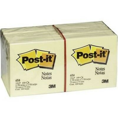 Post-it Notes, 3 in x 3 in, Canary Yellow, 12 Pads/Pack, 100 Sheets/Pad