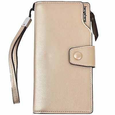 Women Lady Leather Wallet Zipper Purse RFID Credit Card Clutch Holder Case Girl